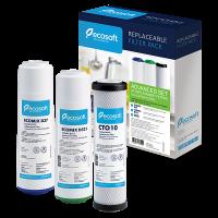 Улучшенный комплект картриджей Ecosoft для тройных фильтров CRV3ECO